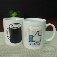 Wholesale White ceramic heat sensitive color changing mugs custom company logo from china suppliers