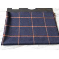 Wholesale Business Casual Style Plaid Tartan Fabric, Dark Blue Tartan Fabric Wool With Orange Line from china suppliers
