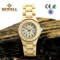 Wholesale Unsix Stainless Steel Bezel + Maple Wooden Wrist Watch , 3 ATM wood watch mens waterproof from china suppliers