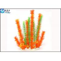 Wholesale Purple / Orange / Green Artificial Aquarium Plants / Aquarium Fake Plants For House Decorations from china suppliers