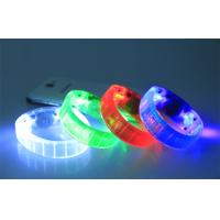 Wholesale Custom Child Toy LED Flashing Bracelet Blister Card / Glow In The Dark Wristbands from china suppliers