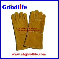 Wholesale cow leather kevlar safety welding gloves from china suppliers