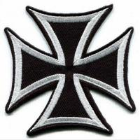 Wholesale German Iron Cross Military Sew On War Biker Iron-on Applique Patch from china suppliers