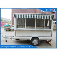 Wholesale Mobile Snack Outdoor Food Kiosk Hot Dog Concession Carts White from china suppliers