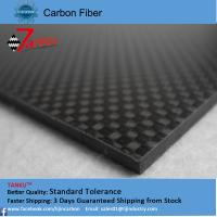 Wholesale High Strength Reinforced Plastic 3K Carbon Fiber Plate , Matte Plain Carbon Fiber Sheets from china suppliers