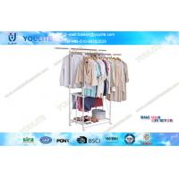 Wholesale Household Deluxe Indoor Laundry Drying Rack with Wheels , Clothing Display Racks from china suppliers