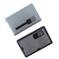 Wholesale New arrival metal  OEM Promotion Credit Card drives with 512mb 1g 2g 4g 8g 16g from china suppliers