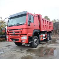 Wholesale 336HP 6X4 10 Wheel SINOTRUK HOWO Dump Truck Heavy Duty Red Color Long Life from china suppliers