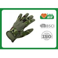 Wholesale Multi Function Camo Hunting Gloves For Bicycle / Sports Slip Resistant from china suppliers