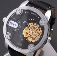 Wholesale Big Dial Men Hollow Automatic Mechanical Watch Belt Watches from china suppliers