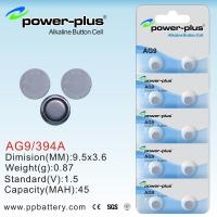 Wholesale 2011 new Customized AG Series coin cell battery AG9/394A/1.5V from china suppliers