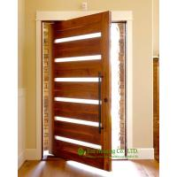 Wholesale Solid wood pivot front door for sale, modern external pivot doors, High quality pivot entrance door from china suppliers