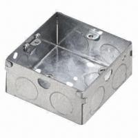 Wholesale 1-gang 200mm/25mm Metal Junction Box, Made of Steel Galvanized, OEM/ODM Orders are Welcome from china suppliers