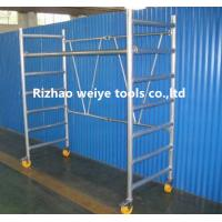 Wholesale Mobile aluminum scaffolding h frame with fiberglass plank , PVC wheels 34.7kg from china suppliers