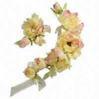 China Peony-A Series of Bridal Headwear with Gallant Color, Used for Wedding Gown and Dress on sale