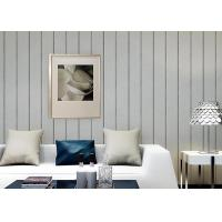 Wholesale 0.53*10M / Roll Living Room Contemporary Wall Coverings With Vertical Stripes Pattern from china suppliers