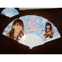Wholesale 23cm Promotional hand fan , with plastic frame and paper both-side printed from china suppliers