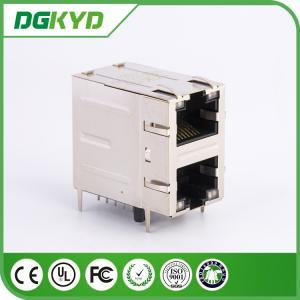 Wholesale DGKYD21Q078DG1A4D gigabit ethernet 2 Port RJ45 Connector 2x1 Offset St / Jk With Leds from china suppliers