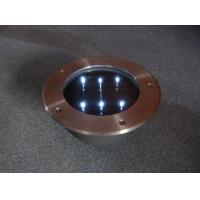 Buy cheap stainless steel Round Solar Brick with 6 LED from wholesalers