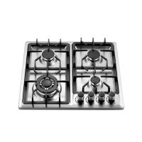 Wholesale Built In 4 Burner Gas Hob Stainless Steel , 4 Burner Gas Cooktop 580x500mm from china suppliers