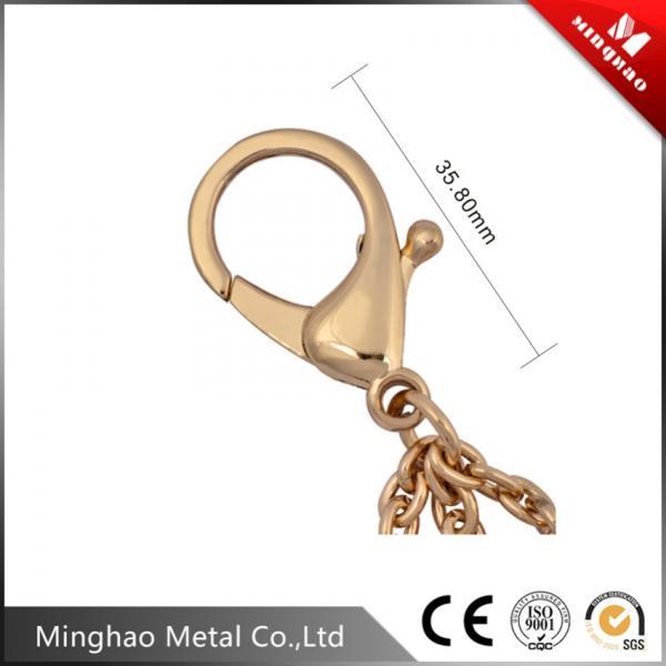 35.8MM zinc alloy metal lobster snap hook,bag accessories metal chain