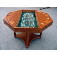 Wholesale 4 In 1 Casino Game Table For Club , Poker Dining Table With Veneer Roulette from china suppliers