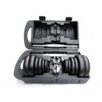 Wholesale Black Cast Iron Adjustable Gym Custom Painting Dumbbell Weights Manufacture 15kg 20kg 30kg Set from china suppliers