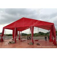Wholesale UV Resistant Red Color PVC Fabric Tent Structure Hard Pressed Aluminum Frame from china suppliers