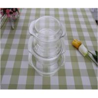 Wholesale Round Flameproof Glass Casserole Dish With Lid , Pyrex 2 Quart Casserole Dish from china suppliers