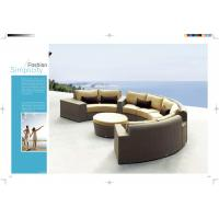 Wholesale 2015 new product rattan half round sofa,Resin Wicker Luxury hotel sofa,Commercial sofa from china suppliers