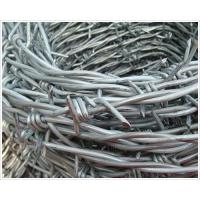 Wholesale Low Carbon Steel Galvanized Barbed Wire , Military Barbed Wire ISO9001 SGS Certification from china suppliers