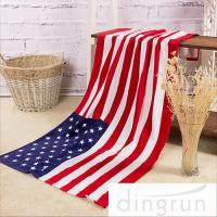 Wholesale American Flags Artwork Custom Printed Beach Towels Eco Friendly Pure Cotton from china suppliers