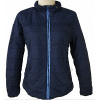 China 2 Color Womens Warm Padded Winter Coats Black Or Blue With Two Side Pockets for sale