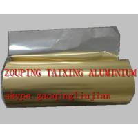 Wholesale golden lacquer  aluminium foil for airline container from china suppliers