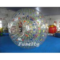 Wholesale Color Dots Inflatable Zorb Ball , Grass Zorb Ball , Inflatable Human Hamster Ball Customized for Kids and Adults from china suppliers