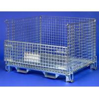 Wholesale Stackable logistic storage large rectangular steel wire mesh cages from china suppliers
