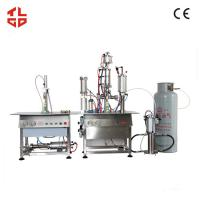 Wholesale Auto Spray Can Bag On Valve Filling Machine , Cosmetic Spray Filling Machine from china suppliers