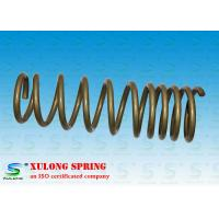 Wholesale 14mm Wire Off Road Automotive Coil Springs , Vehicle Coil Springs Gold Powder Coated XL-1118 from china suppliers