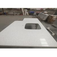 Wholesale Square Quartz Bathroom Worktops With Stainless Steel Sink Undermounted from china suppliers