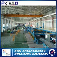 Quality 18 - 36m Double Belt Machine PU Sandwich Panel Production Line  For Wall & Roof for sale