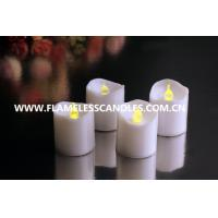 Wholesale Wind-proof Battery Operated LED Plastic Votives , Flameless LED Tealight Candles from china suppliers