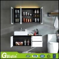 Wholesale bath mirror type and solid wood door panel bathroom cabinet