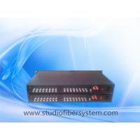 OEM 16CH HD/3G SDI to fiber converter,16CH SDI signals transmission over 1 fiber for broadcast or CCTV system