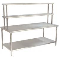 Wholesale Kitchen YX-H30-2 Stainless Steel Catering Equipment / Work Table With Top Rack from china suppliers