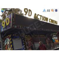 Wholesale Metal Flat Screen 9D Movie Theater , Truck Mobile Cinema Private Customized from china suppliers