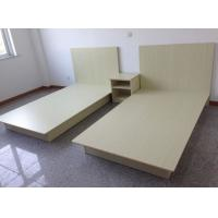 Wholesale Beige Modern Hotel Room Furnishings Small Wooden Double Bed Moistureproof from china suppliers