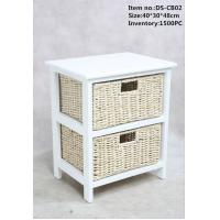 Wholesale White Wood Cabinet  with handmade corn rope drawers and lining from china suppliers