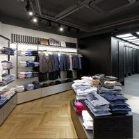 Wholesale Clothing boutique store interior design with display shelves from china suppliers