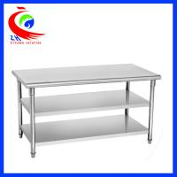 Wholesale Easy clean 201  Stainless Steel Work Table  for commercial kitchen from china suppliers