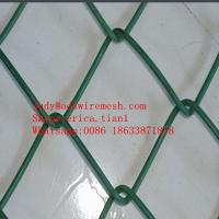 Wholesale (50*50MM 100*100MM)PVC Coated Chain Link Fence Wire Mesh from china suppliers